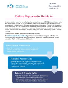 Sample Fact Sheets | Prh Act Sample Fact Sheet Physicians For Reproductive Health
